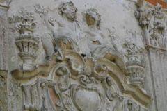 Zachowany fragment dekoracji ściany wielkiej sali na piętrze