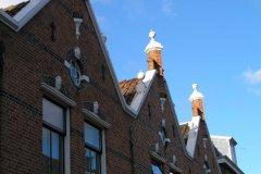 Szczyty domków w centrum Voorburga